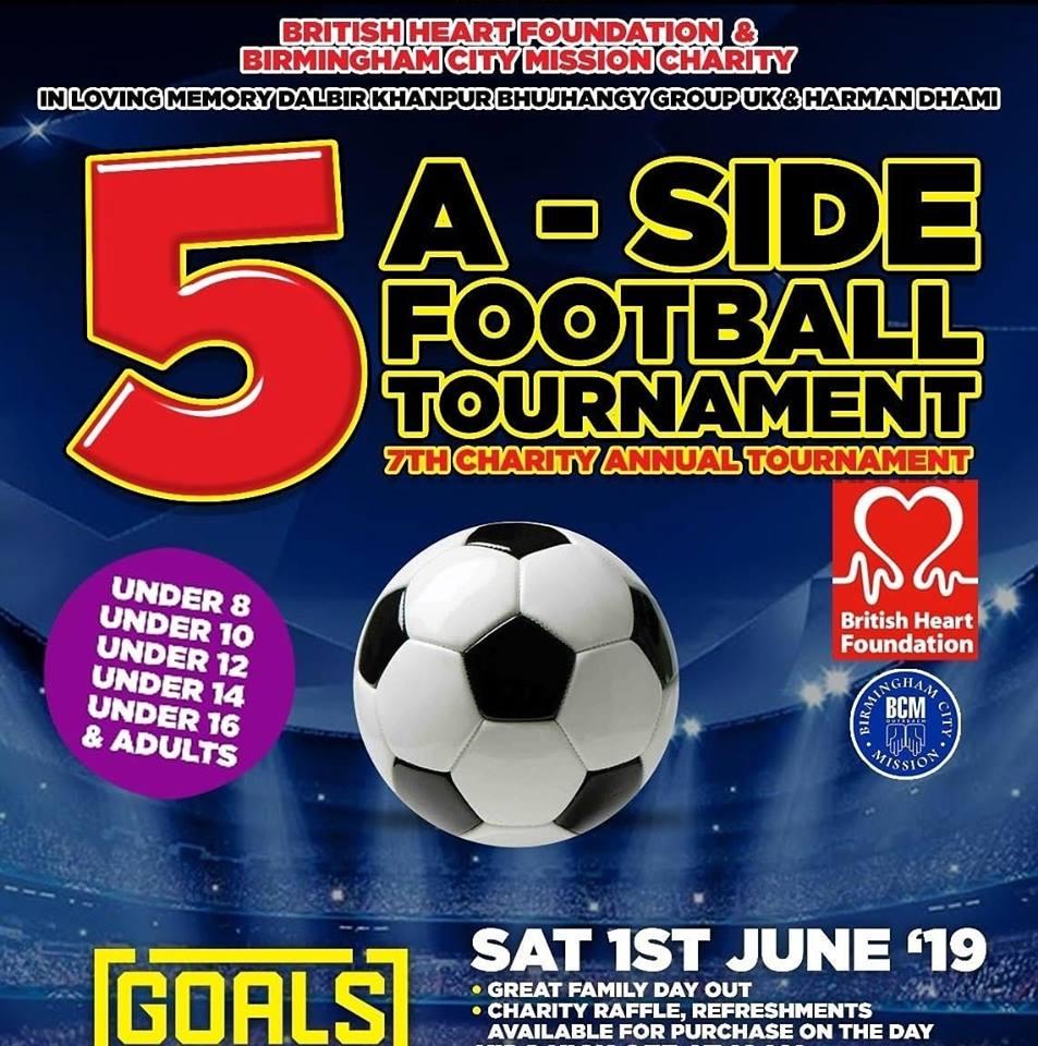 Sanjhi Sewa team will be at 5-A side football tourament  1/6/19 Image