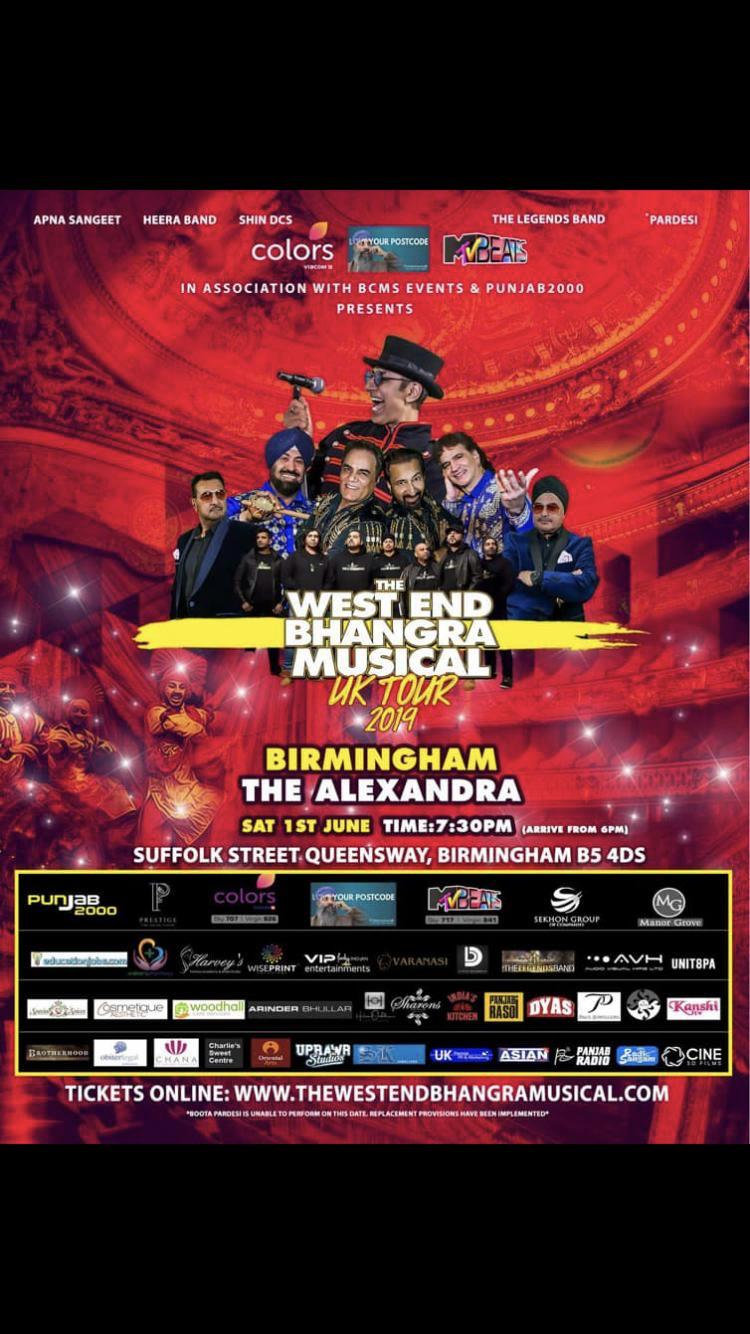 Sanjhi Sewa team will be at #WestEndBhangraMusical at The Alexandra 1-6-2019 Image